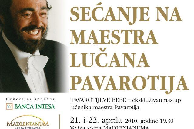 Tribute concert in memory of Maestro Pavarotti | Madlenianum, Belgrade (Serbia)